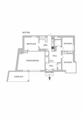 Trivsam 50-tals villa med bra läge. Bergvärme. Ö-spis.