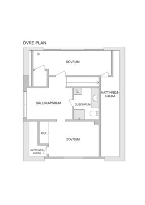 1 1/2 plans kedjehus med bra läge i lungt och trivsamt område centralt i Ösmo!