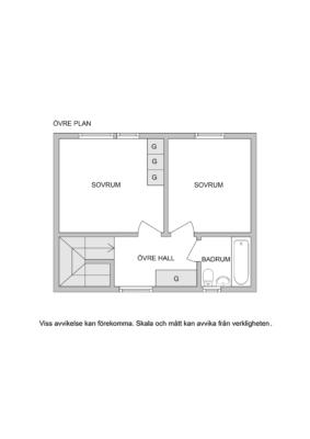 Bostadsrättsradhus med gavelläge, garage och lyxigt jacuzzi.