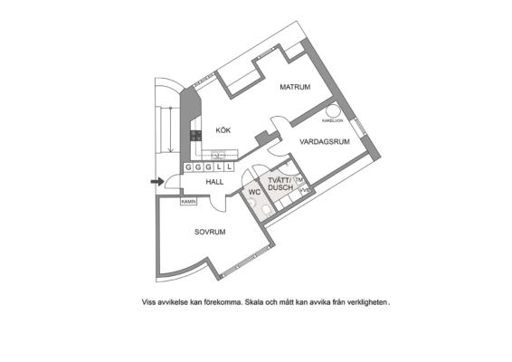 Unik takvåning från förra sekelskiftet, Kakelugn, kamin, balkong.