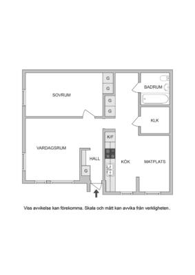 2:a i markplan med stort kök och stenlagd uteplats!