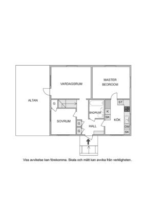 Villa med centralt läge, garage och stor trädäckad altan i söder!