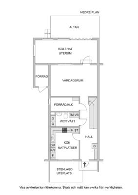 Gavelradhus med stor hörntomt och uterum.