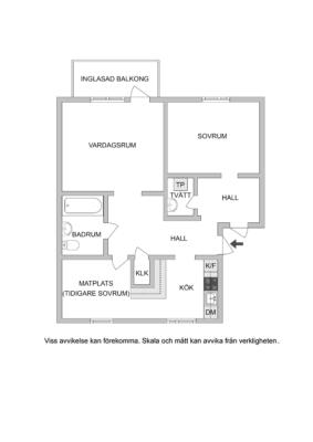 Ombyggt 3:a med optimal planlösning! Två ingångar och balkong i sydväst.